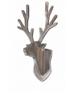 Coat rack deer - Grey wash