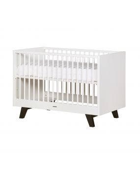 Fynn white / black - Cot bed 70x140