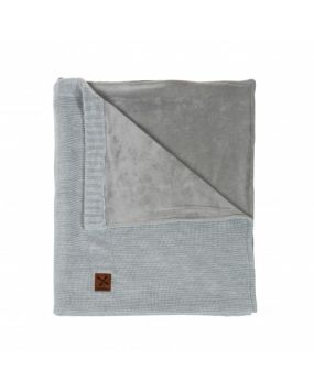 Knitted Grey - Babyblanket cot(bed)
