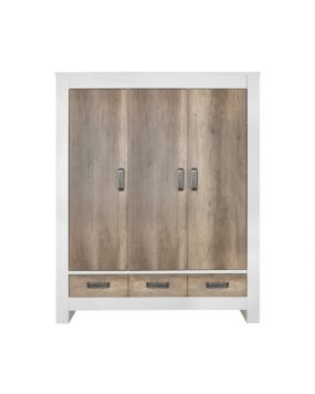 Costa White / Oldwood - Wardrobe (3 doors)