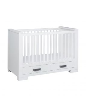 Lodge White - Cot bed with drawer