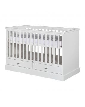 Newport White - Cot bed 70x140