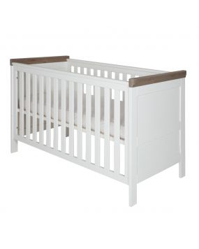 Savona White / Grey without cross - Cot bed 70x140