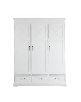 Savona White with cross - Wardrobe (3 doors)