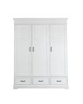 Savona White without cross - Wardrobe (3 doors)