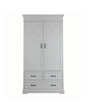 Savona White with cross - Wardrobe (2 doors)
